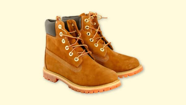 Boots Like Timberlands  Timberlands Lookalikes on Plain Yellow Background