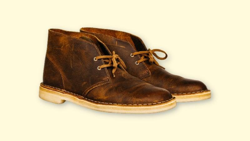Clarks Desert Boot Review  Product Shot of Clarks Desert Boots on Blank Background