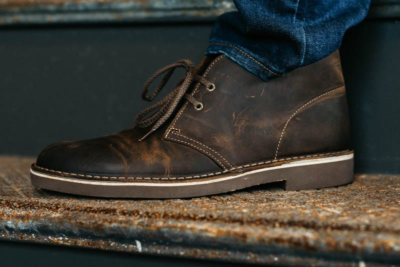 Closeup of Clarks Bushacre 2 boot