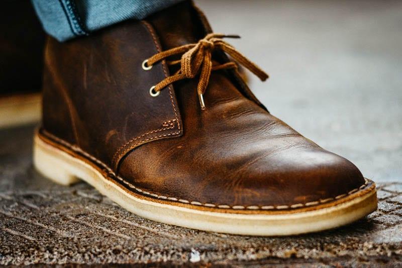 clarks desert boot closeup