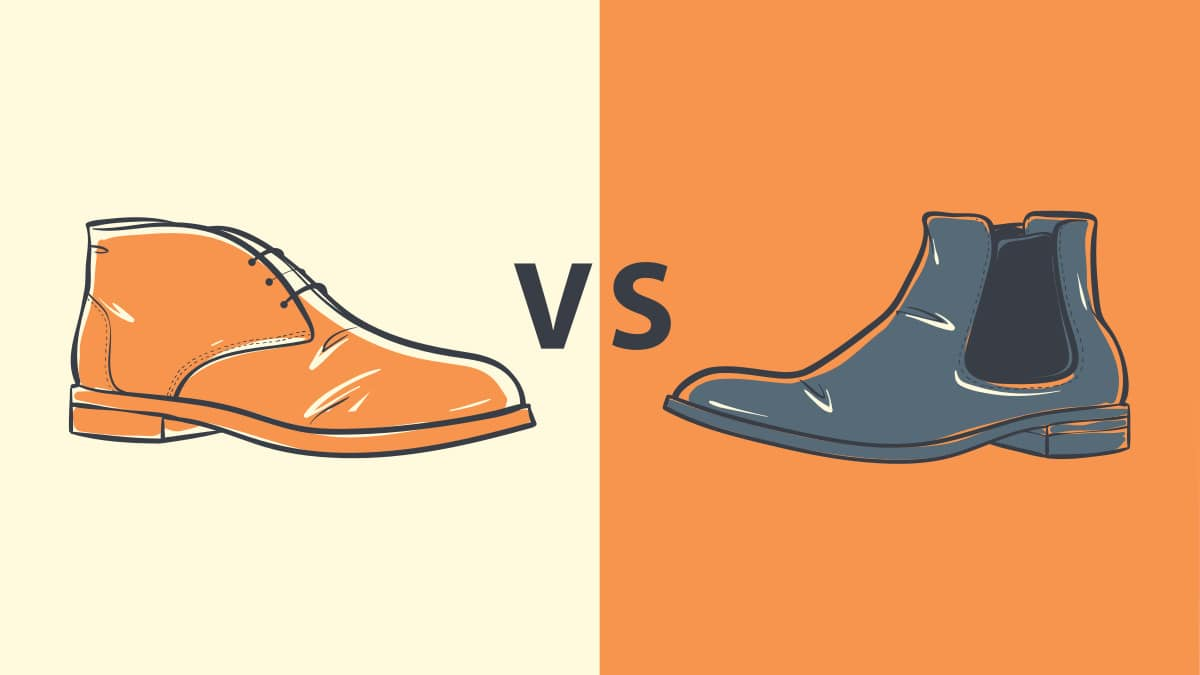 Chukka vs Chelsea Boots  Two Cartoon Boots Side by Side