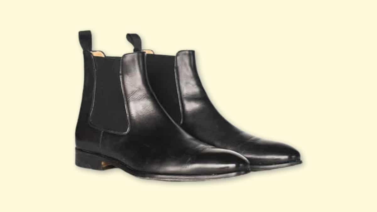 Ace Marks Troy Review  Black Ace Mark Troy Chelsea Boots on Blank Background
