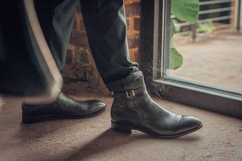 closeup black beckett simonon leather douglas jodhpur boots
