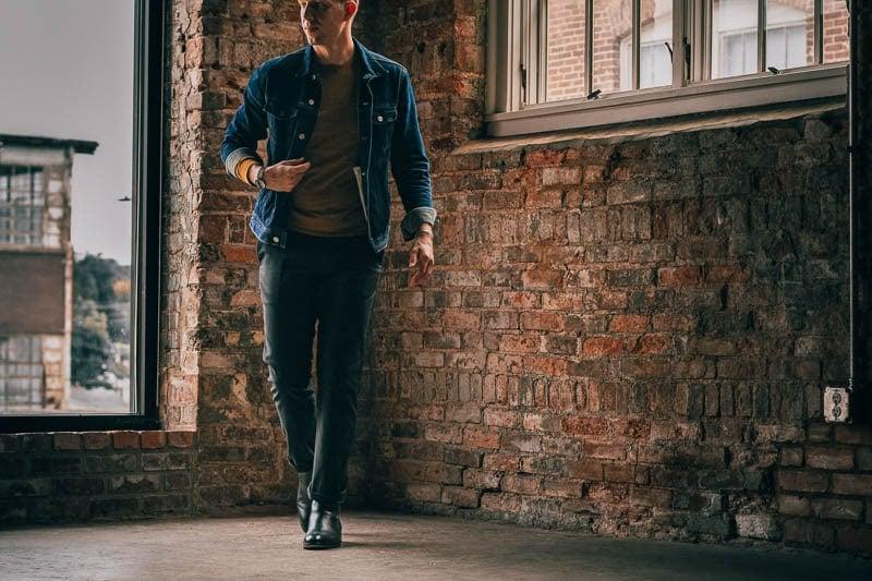 model walking in beckett simonon black jodhpur boot