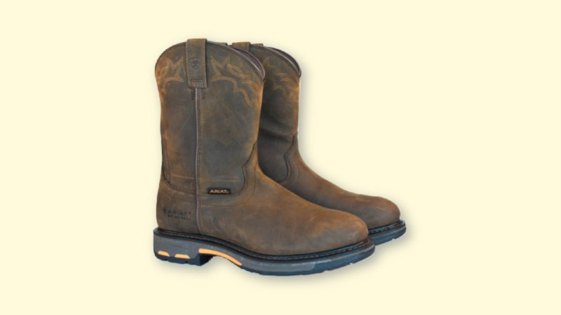 Ariat WorkHog Review  Ariat WorkHog Boots Side on Plain Background
