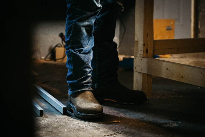 Ariat workhog boot in workshop