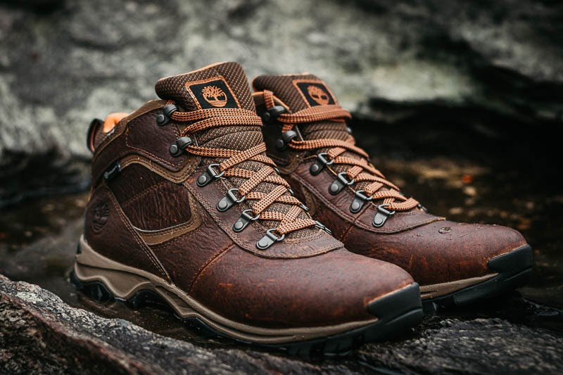 Timberland Mt. Maddsen Hiking Boots Outside Close Up