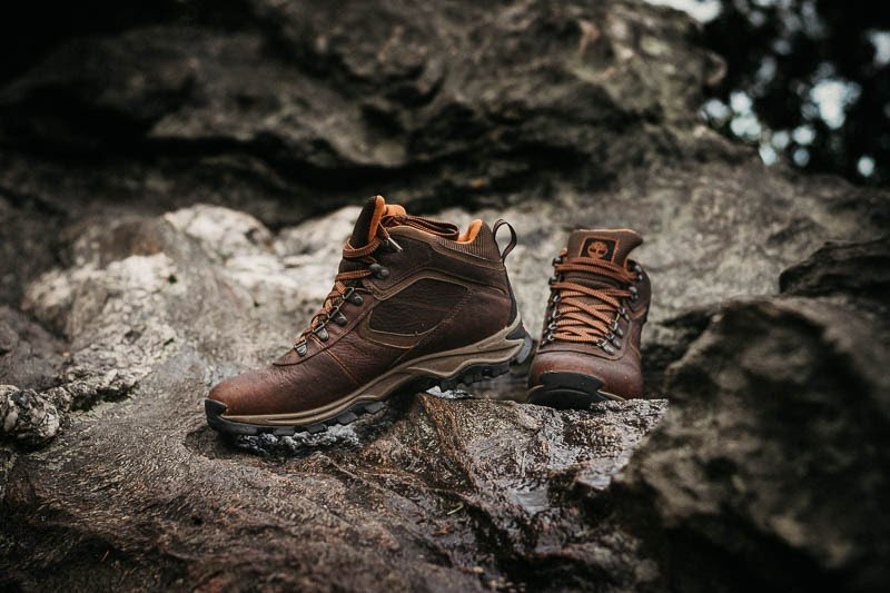 Timberland Mt. Maddsen Hiking Boots On a Rock