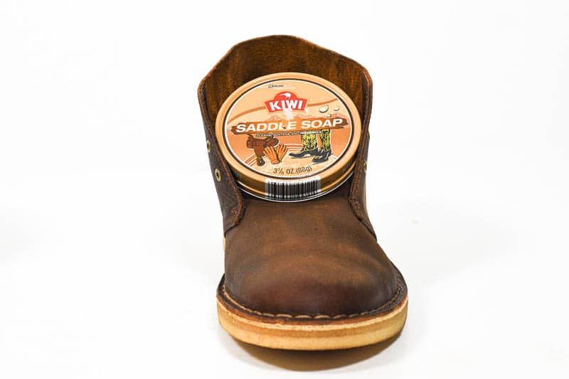 boot treated with saddle soap
