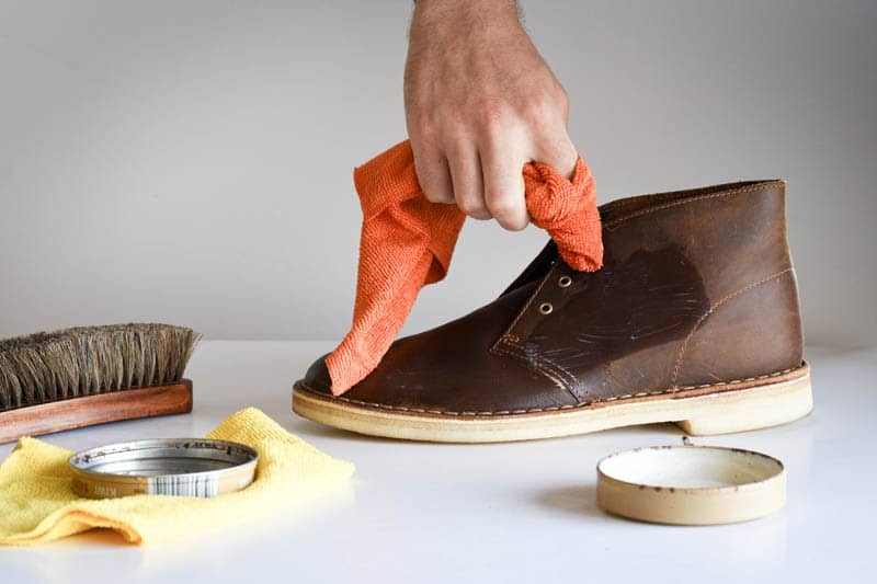 how to clean clarks desert boots 8