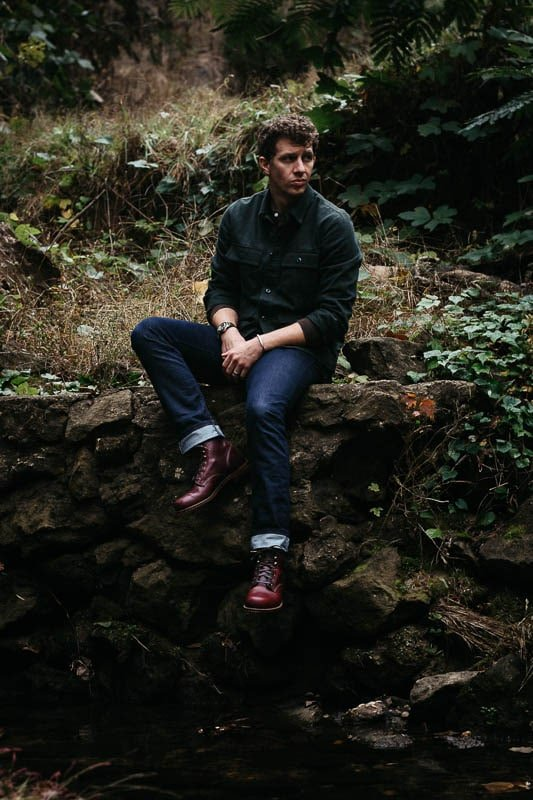 Wolverine 1000 Mile boots with cuffed raw jeans