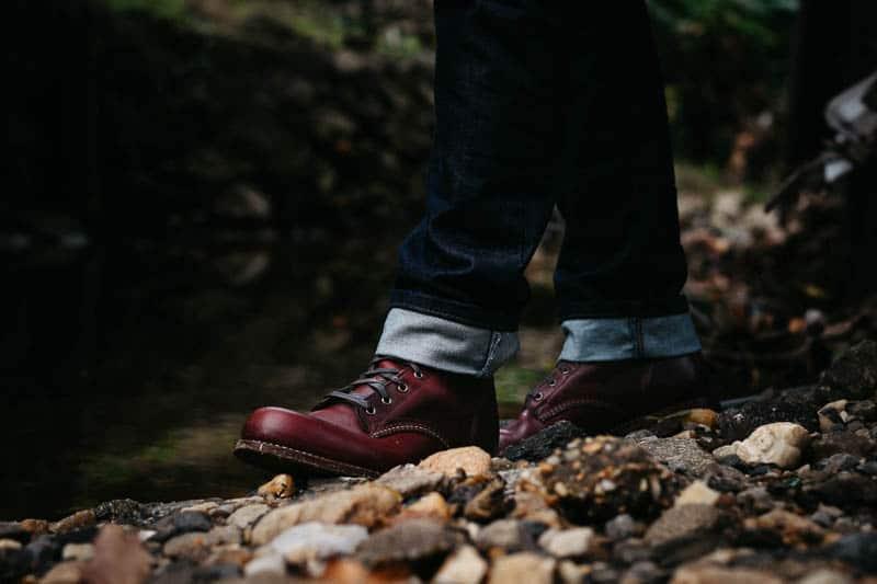 closeup profile Wolverine 1000 Mile boots