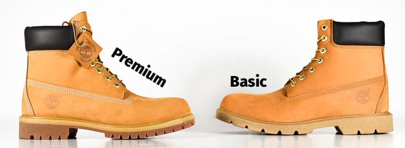 Timberland Basic vs Timberland Premium Boots Side by Side