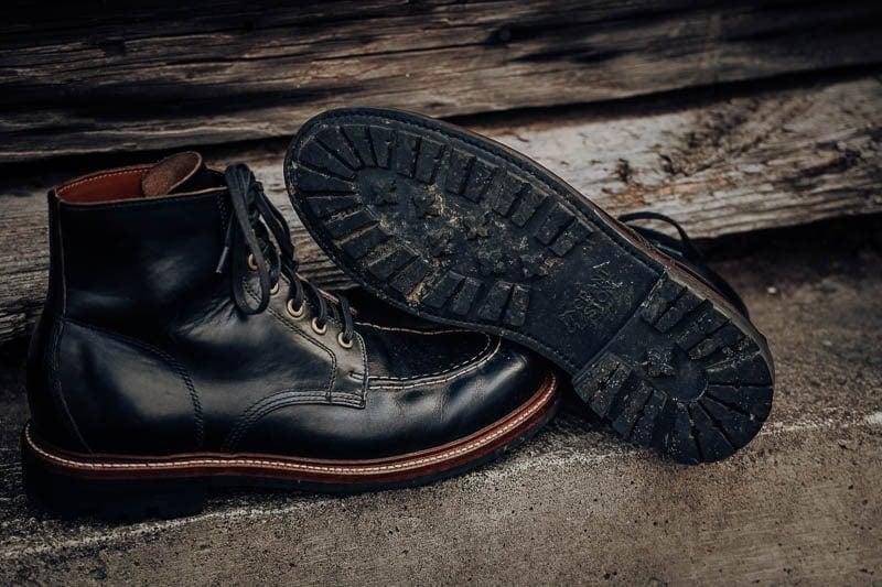 Grant Stone Brass boot rubber lug sole