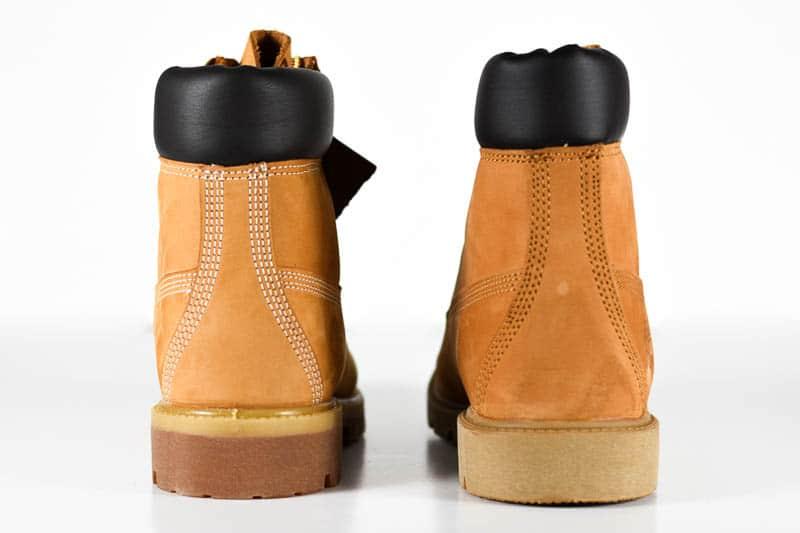 Timberland basic vs premium stitching heel counter