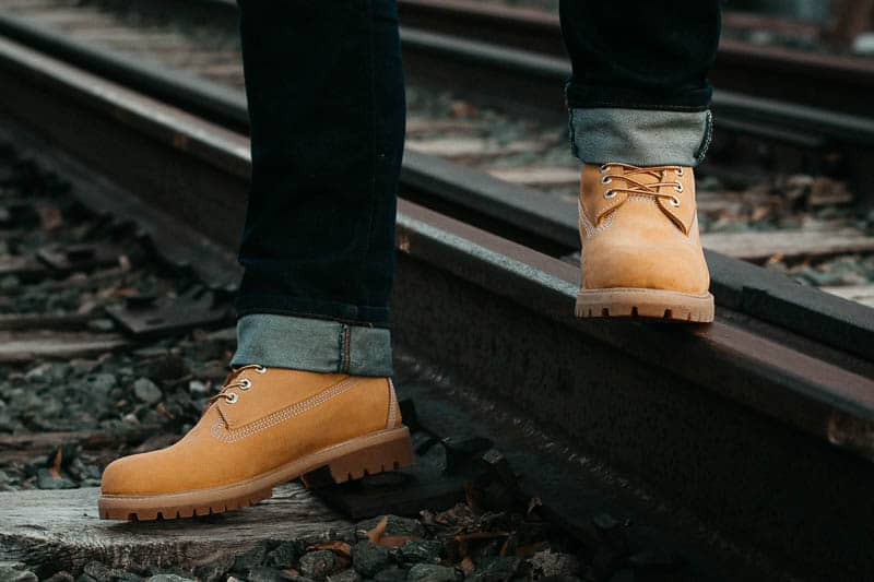 Timberland premium boots profile view