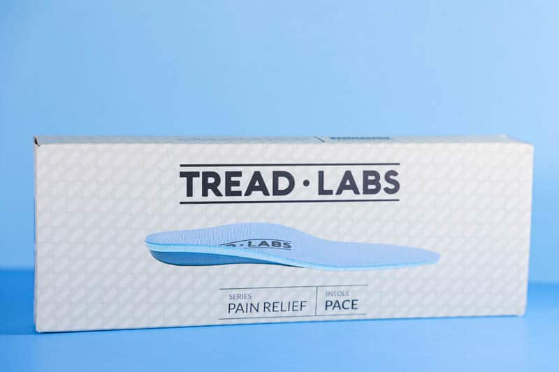 Tread Labs pace insole packaging