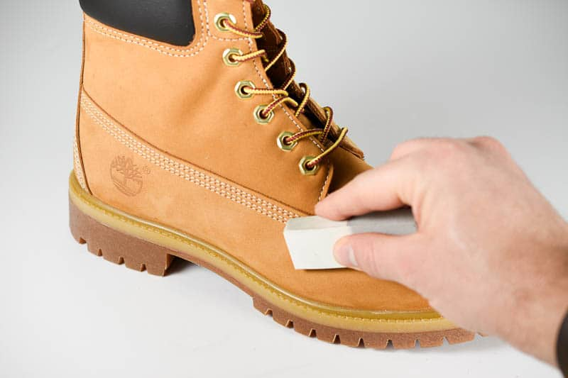 using nubuck eraser on timberland boots