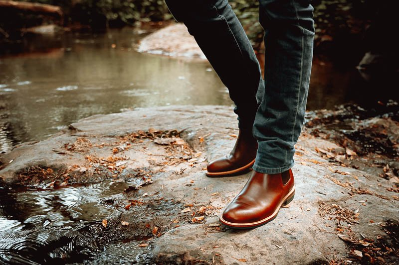 Nisolo javier brandy leather chelsea boot