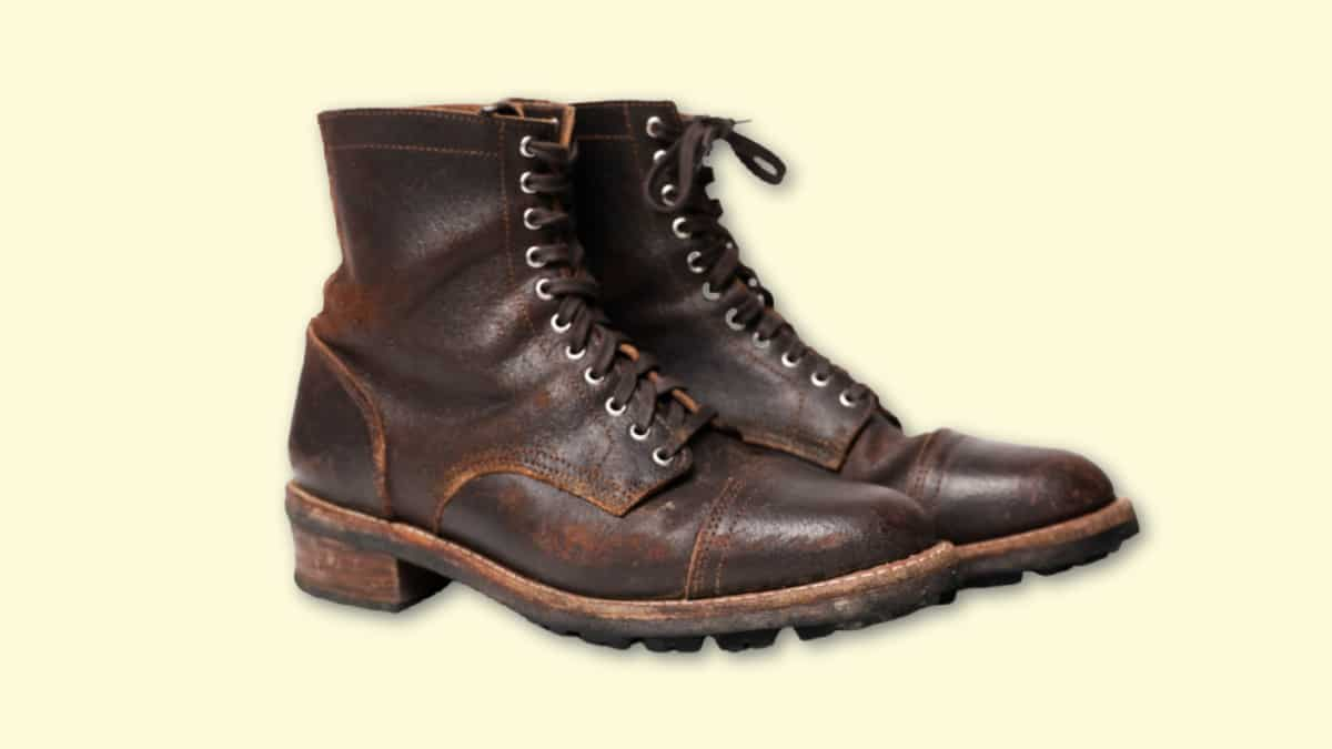 Thursday Boots Logger Review Thursday Logger in Waxed Cacao on Blank Background