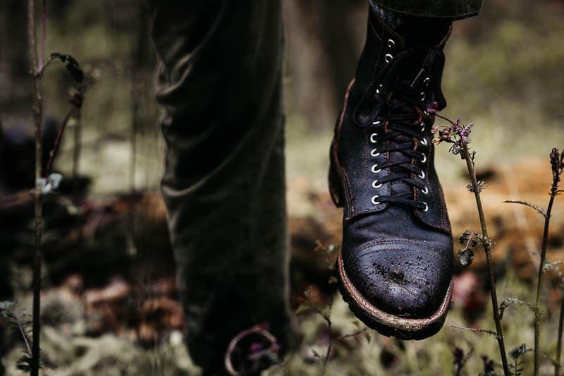 Thursday Boots Logger on model walking