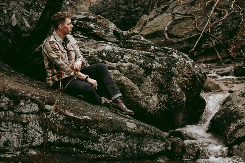 Thursday Boots Logger on model