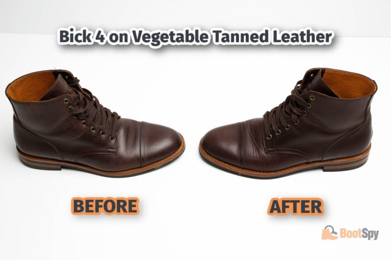 Bick 4 on Vegetable Tanned Leather