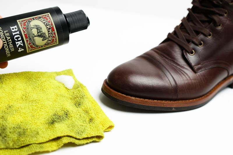 how to apply bick 4 leather conditioner