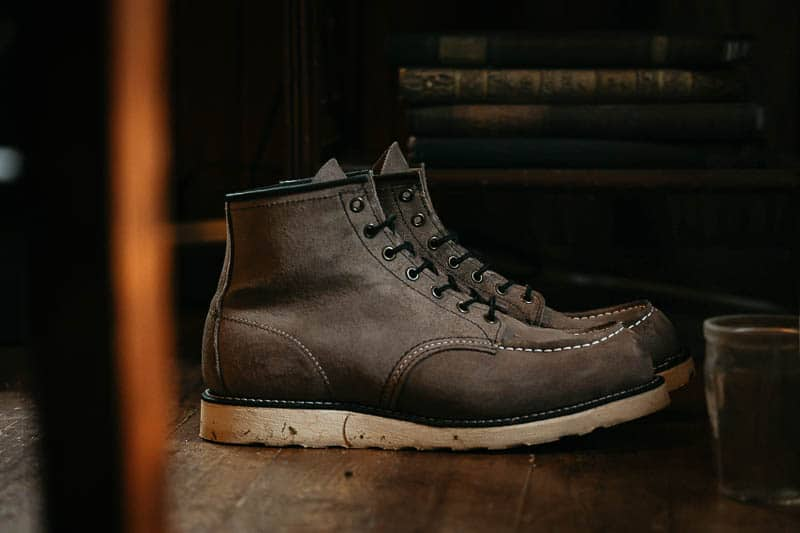 Red Wing Moc Toe in cabin