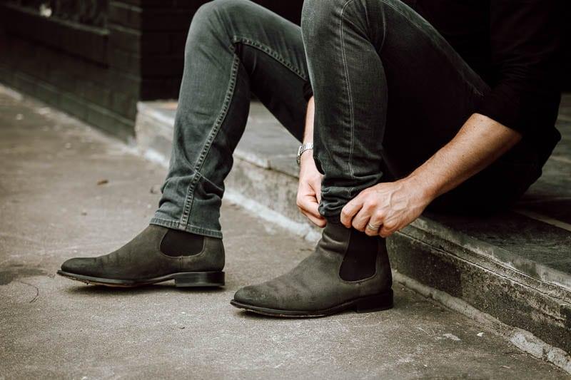 Thursday Boots Cavalier chelsea boots on model