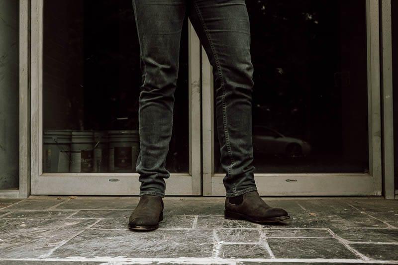 Thursday Boots Cavalier chelsea in front of door
