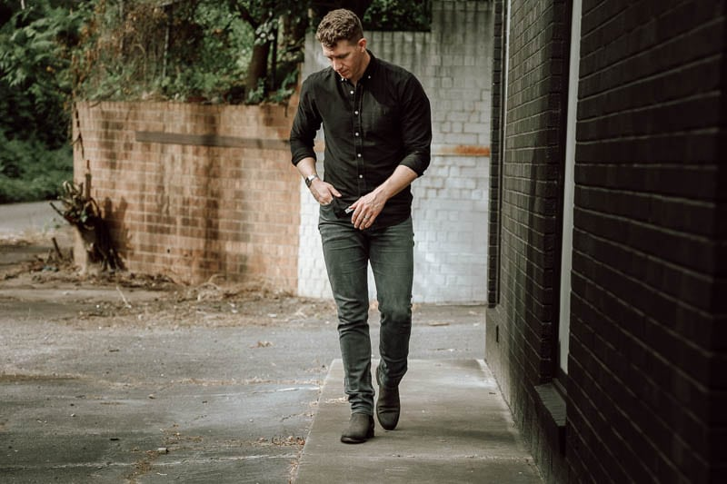 Thursday Boots Cavalier on model walking