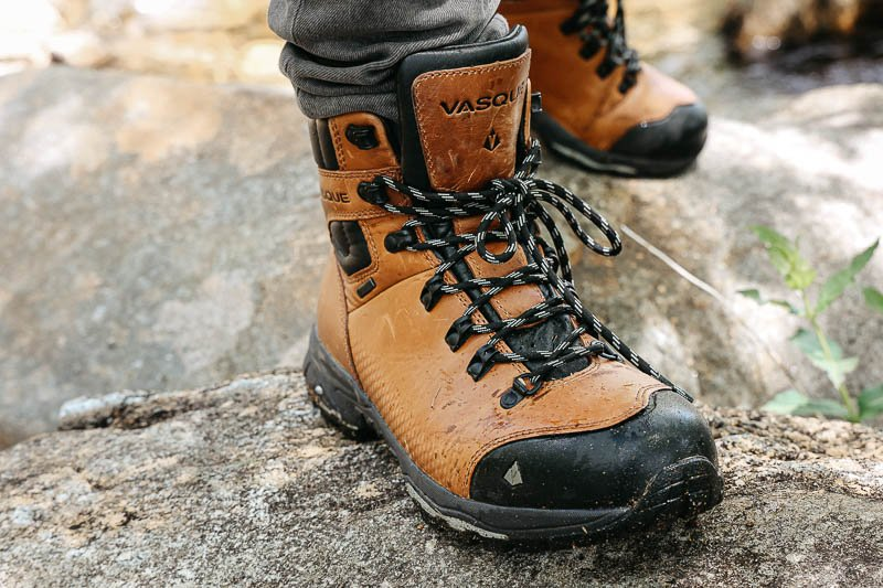 Vasque St Elias Hiking Boot front view with laces