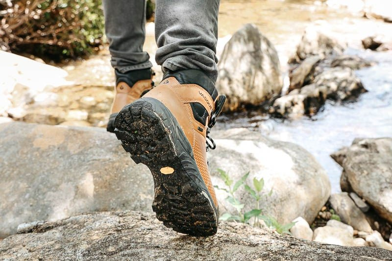 Vasque St Elias Hiking Boot sole view on trail