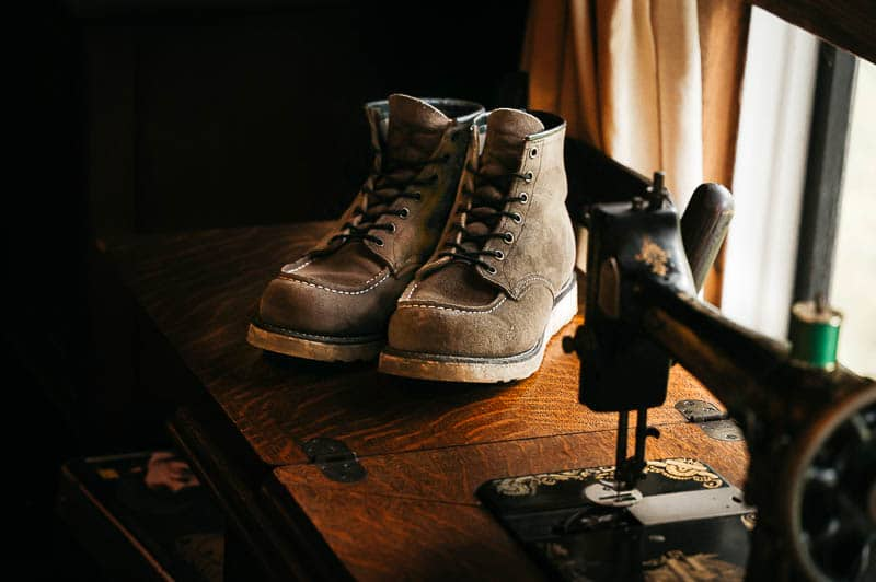 lifestyle image of Red Wing Moc Toe