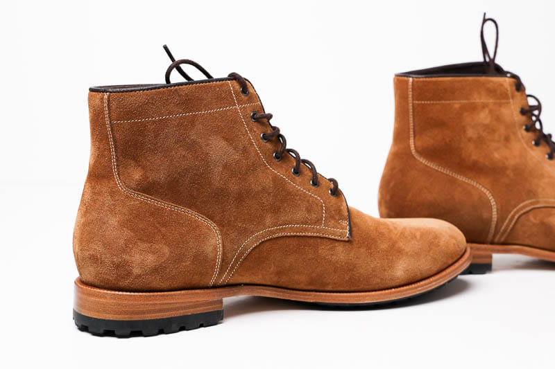 Warfield and Grand battery in suede instep detail 1