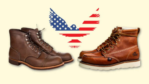 Best American Made Boots Red Wing Iron Ranger and Thorogood Moc Toe with US Eagle