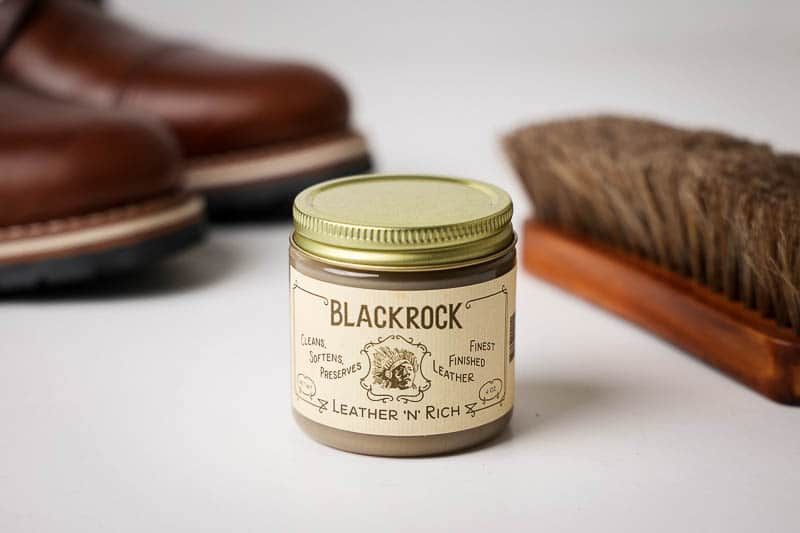Blackrock leather n rich with horsehair brush