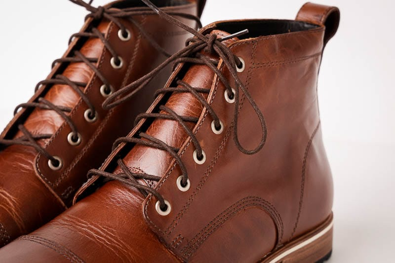 Helm Boots antique brass eyelets