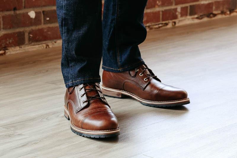 Helm Boots hollis toe cap boot on model
