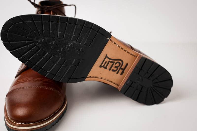 Helm Boots rubber mini lug sole detail