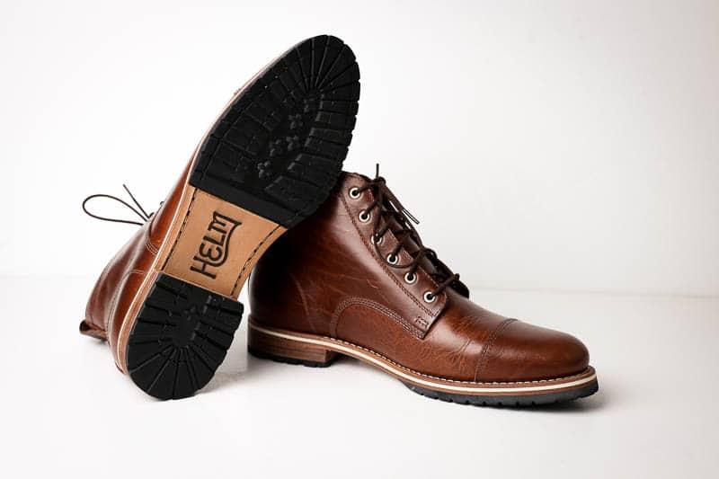 Helm Boots sole branding detail
