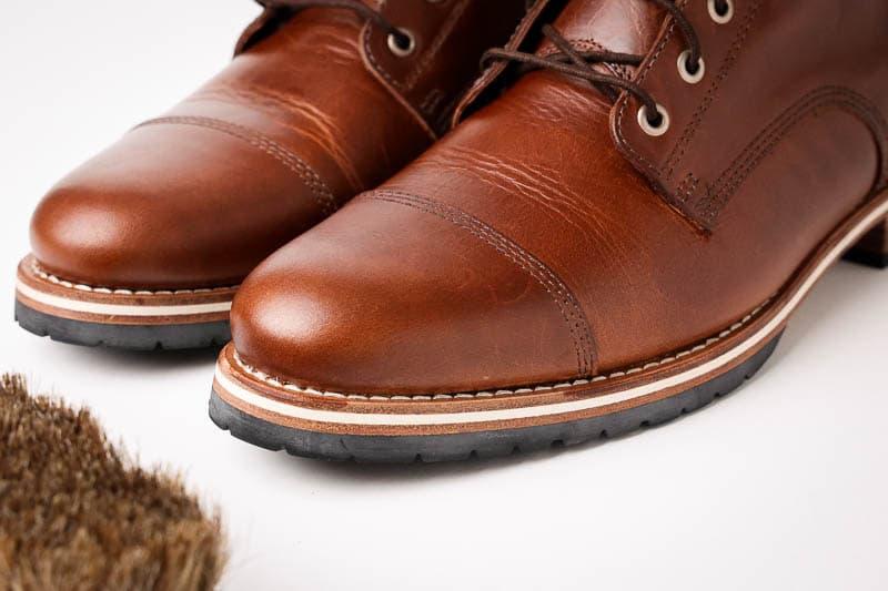 Helm Boots toe cap detail on hollis