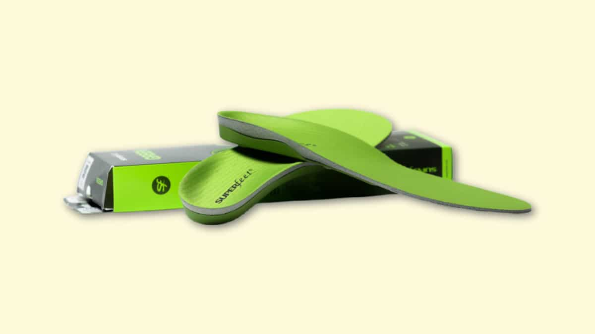 Superfeet GREEN Insole Review Insole on Blank Background