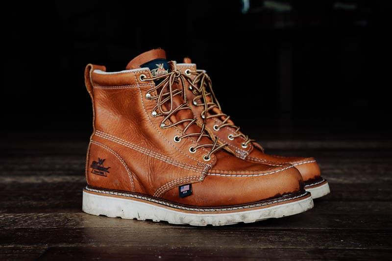 Thorogood moc toe boots dirty