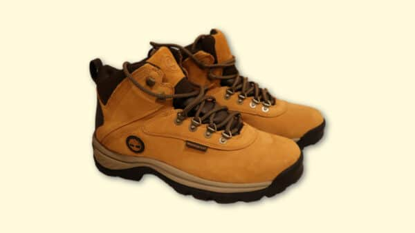 Timberland hiking boots review White Ledge on blank background