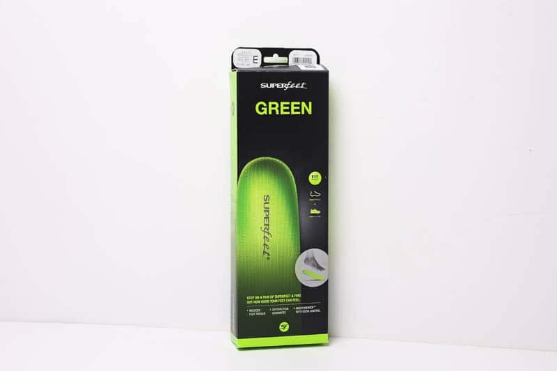 superfeet green insole packaging