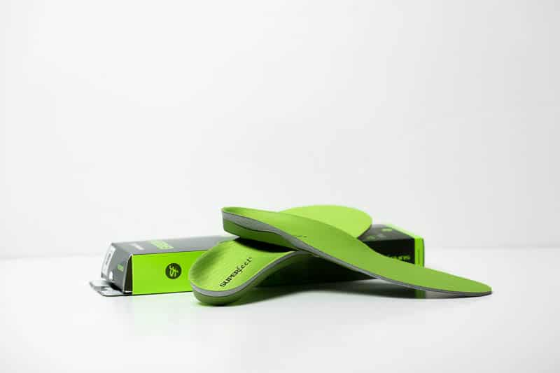 superfeet green insole with packaging