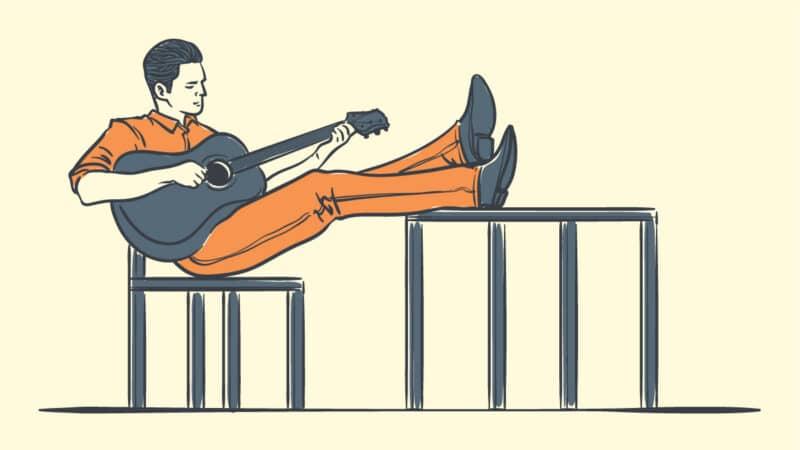 Blake Shelton Boots Cartoon Drawing of Blake Shelton Playing Guitar in Boots