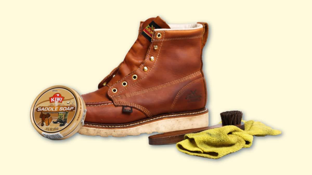 How to use saddle soap on boots Thorogood Moc Toe with Saddle Soap and Brush